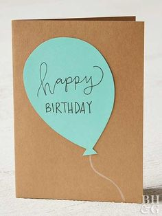 These Handmade Birthday Cards Are So Easy, Anyone Can Make Them! These Handmade Birthday Cards Are So Easy, Anyone Can Make Them! Make an easy DIY birthday card with just. Simple Birthday Cards, Homemade Birthday Cards, Girl Birthday Cards, Birthday Cards For Friends, Bday Cards, Diy Gifts For Friends, Birthday Greetings, Birthday Ideas, Birthday Cake