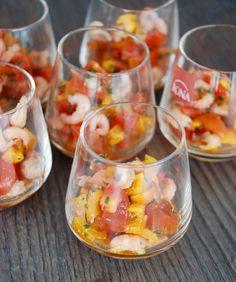 Tartare de tomates cerises et crevettes grises – The Mona Project
