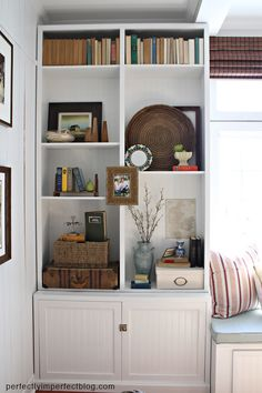 decorating+bookcases | FALL DECORATING | BOOKCASE DECORATING | TABLE DECORATING IDEAS ...