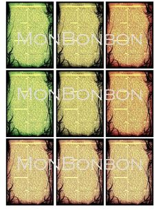 Digital Download of 18 Witchcraft ATC Backgrounds by monbonbon, $2.99