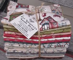 The fat quarter bundles for the NEW collection 'Around Town' designed by Terri Degenkolb of Whimsicals for Red Rooster Fabrics are ready :)