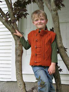 Seal Island boys vest knitting pattern