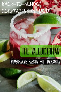 Sip on these tasty pomegranate-passion fruit #margaritas this autumn. #margaritarecipes #drinkrecipes #cocktails #recipes