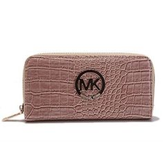 Michael Kors Jet Set Python Continental Large Brown Wallets