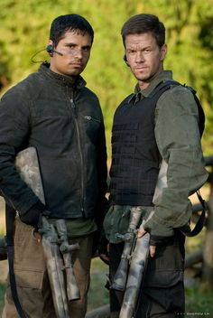 Mark Wahlberg as a highly skilled marksman Bob Lee Swagger and Michael Peña as FBI Agt. Nick Memphis in Shooter (2007). What a pair :)