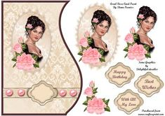 A Quick and Easy Step by Step and Card Front. This beautiful design fits onto an card with enough room to mat if Required. Decoupage Ideas, Decoupage Paper, Image Stitching, Printable Art, Printables, Diy Gift Box, Victorian Ladies, 3d Cards, Scrapbook Stickers