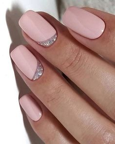 Want some ideas for wedding nail polish designs? This article is a collection of our favorite nail polish designs for your special day. Nail Art Designs, Silver Nail Designs, Nail Designs Spring, Glitter Nail Designs, Silver Nails, Matte Nails, Acrylic Nails, My Nails, Silver Glitter