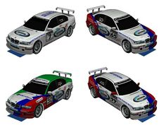 2007 BMW 320i WTCC [E46] #7/30/65/99 Paper Cars Free Vehicle Paper Models Download