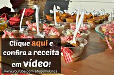 56 Doces para festa junina Food And Drink, Birthday Cake, Drinks, Desserts, Pastries, Bonfire Parties, Party Candy, Recipes, Drinking