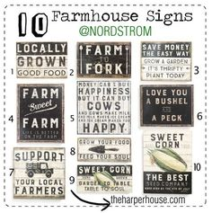 F I X E R U P P E R Style at Nordstrom? Say what? Who knew you could find farmhouse goodness at Nordstrom? I've rounded up 10 signs to give you Fixer Upper Style   The Harper House