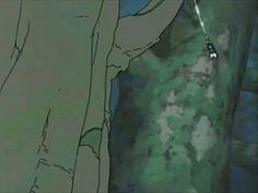 『NARUTO』より、松本憲生さんパート。物凄いアクションなのに、顔だけ止めて「作画崩壊」とか言われちゃうことも多い。