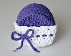 Crochet Face Scrubby Set: Purple Grape by CreateLoveRepeat on Etsy