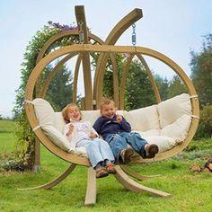 and unusual wooden garden swing design outdoor furniture
