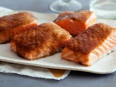 Roasted Salmon with Brown Sugar Glaze from CookingChannelTV.com