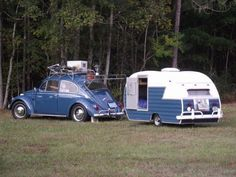 VW Bug and matching camper.