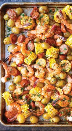 Sheet Pan Shrimp Boil (for lunch or dinner!)