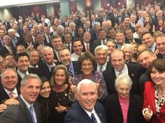 VP-Elect Mike Pence -- Selfie with House Republicans ... Everything's All White (PHOTO)