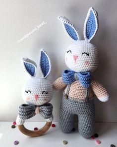 Knitted Bunnies, Bunny Plush, Bunny Toys, Crochet Bunny, Knit Crochet, Crotchet Animals, Crochet Amigurumi Free Patterns, Amigurumi Toys, Dolls
