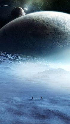 Ice moon. Beautiful #fantasy digital #art at www.freecomputerdesktopwallpaper.com/wfantasyseven.shtml
