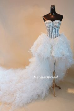 Sexy High Low Wedding Dress/prom Dress/ Wedding Gown With Tulle Ruffles And…