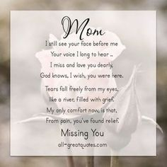 I miss you mom poems 2016 mom in heaven poems from daughter son on mothers day.Mommy heaven poems for kids who miss their mommy badly sayings quotes wishes. Missing Mom In Heaven, Mom In Heaven Quotes, Mother's Day In Heaven, Mother In Heaven, Heaven Poems, Rip Mom Quotes, Missing Mom Quotes, Birthday In Heaven Mom, Miss You Mom Quotes