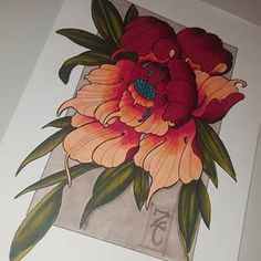 New print plus make a nice tattoo .hope you like feel free to share and have a great sunday night much love ZC Chrysanthemum Tattoo, Poppies Tattoo, Asian Flowers, Oriental Flowers, Japanese Flower Tattoo, Japanese Flowers, Badass Tattoos, Cool Tattoos, Tatoos