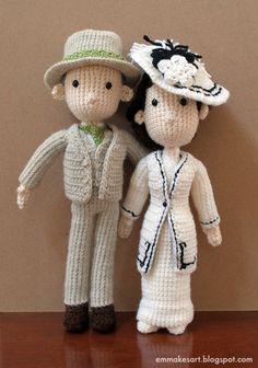 crochet couple (no pattern)