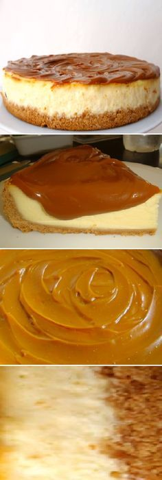 Cómo hacer la verdadera New York Cheesecake. How to make the real New York Cheesecake. Cheesecake Cake, Pumpkin Cheesecake, Cheesecake Recipes, Dessert Recipes, Pie Recipes, Mini Caramel Apples, Delicious Deserts, Flan, Different Recipes
