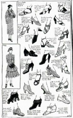 Image detail for -1930s Fashion Women Shoes | Celebrity Inspired Style, Hair, and Beauty