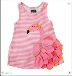 Mud Pie – Flamingo-Kleid in Pink 1 von 2 – Baby Kleidung Little Dresses, Little Girl Dresses, Girls Dresses, Dress Girl, Baby Dresses, Frock Design, Vêtements Goth Pastel, Fashion Kids, Vêtement Harris Tweed