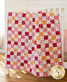 Flannel Crib Quilt Kit - Lil Sprout Pink Designed by ShabbyFabrics toddlerbibs Fabric For Sale Online, Charm Quilt, Baby Sewing Projects, Diy Projects, Baby Quilt Patterns, Patchwork Baby, Shabby Fabrics, How To Finish A Quilt, Book Quilt