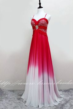 Items similar to Red Floor Length Gradient Silk Chiffon Prom Graduation Bridesmaid or Formal Evening Dress on Etsy Best Prom Dresses, Formal Dresses, Wedding Dresses, Persephone, Silk Chiffon, Designer Wear, Basic Tank Top, Graduation, Gowns