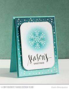 Hand Lettered Holiday, Snowflake Flurry, Snowfall Stencil - Karin Åkesdotter   #mftstamps