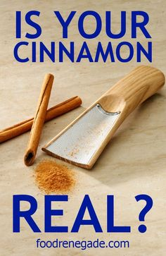 Fake Cinnamon vs. Real Cinnamon - I dunno but the grater is very cool!