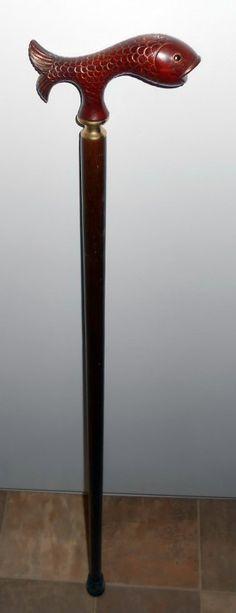 A Very Unique Wooden Cane/Walking Stick | eBay