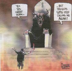 Allah is false god. All idol gods belong to satan.