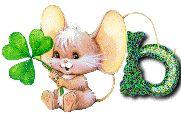 Oh my Alfabetos!: Alfabeto tintineante de ratoncito con trébol.