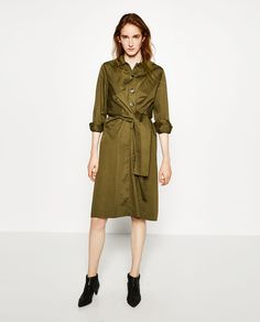 Image 1 of MIDI DRESS WITH FRONT KNOT from Zara