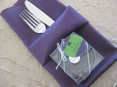 Include your cookie cutter favor in the napkin fold.  See more cookie cutters wedding favors and party ideas at www.one-stop-party-ideas.com