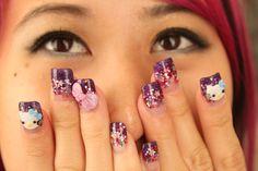 12 Best Hello Kitty Nail Designs Images On Pinterest Uas De Hello