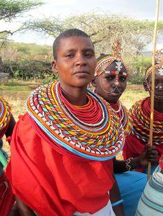 African Masai Beaded Jewelry   Masai Women's Clothing, Masai women wear colourful beaded necklaces ...