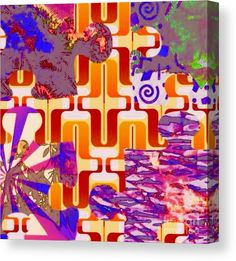 Bold Canvas Print featuring the digital art Pastel Abstract One by Caroline Gilmore