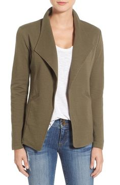 I like this blazer and I think olive is a nice neutral yet casual color to own. However I would prefer the blazer to be slightly shorter in length.