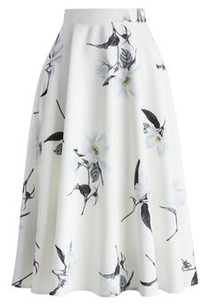 Glam Jasmine A-line Midi Skirt - New Arrivals - Retro, Indie and Unique Fashion