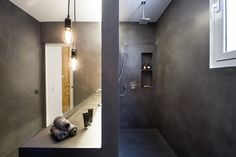deco cement, microcement floors and walls, aplication and distribution of colored micro cement in a wide range of colors Waterproof Flooring, Design Your Home, Cement, Bathrooms, Deco, Wall, Color, Toilets, Colour