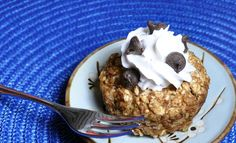 Chocolate chip cookie dough baked oatmeal