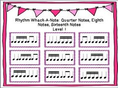 Rhythm Whack-A-Note: Quarters, Eighths, & Sixteenth Notes