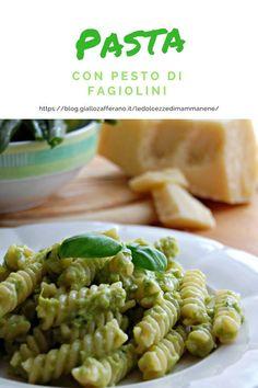 La pasta con pesto di fagiolini è un primo piatto cremoso e goloso. Ricetta da preparare con il Bimby e senza.
