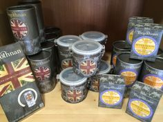 'A little piece of Cornish tea in the Highlands'. Tregothnan Afternoon Tea (25g loose leaf or 10 sachet packets) and Classic Tea in pyramids (25s and 25s) and loose leaf (25g and 25g) in our wee shop at Logie Steading