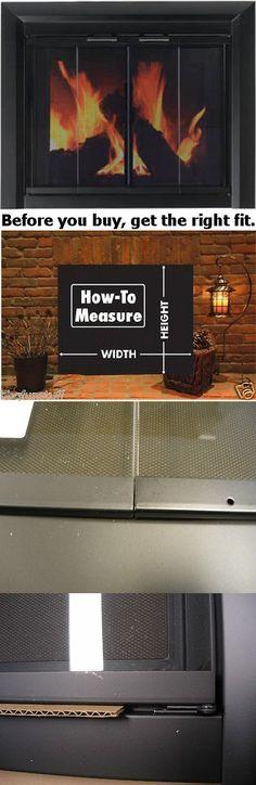 fireplace screens and doors 38221 comfort flame 36 inch wood rh pinterest com